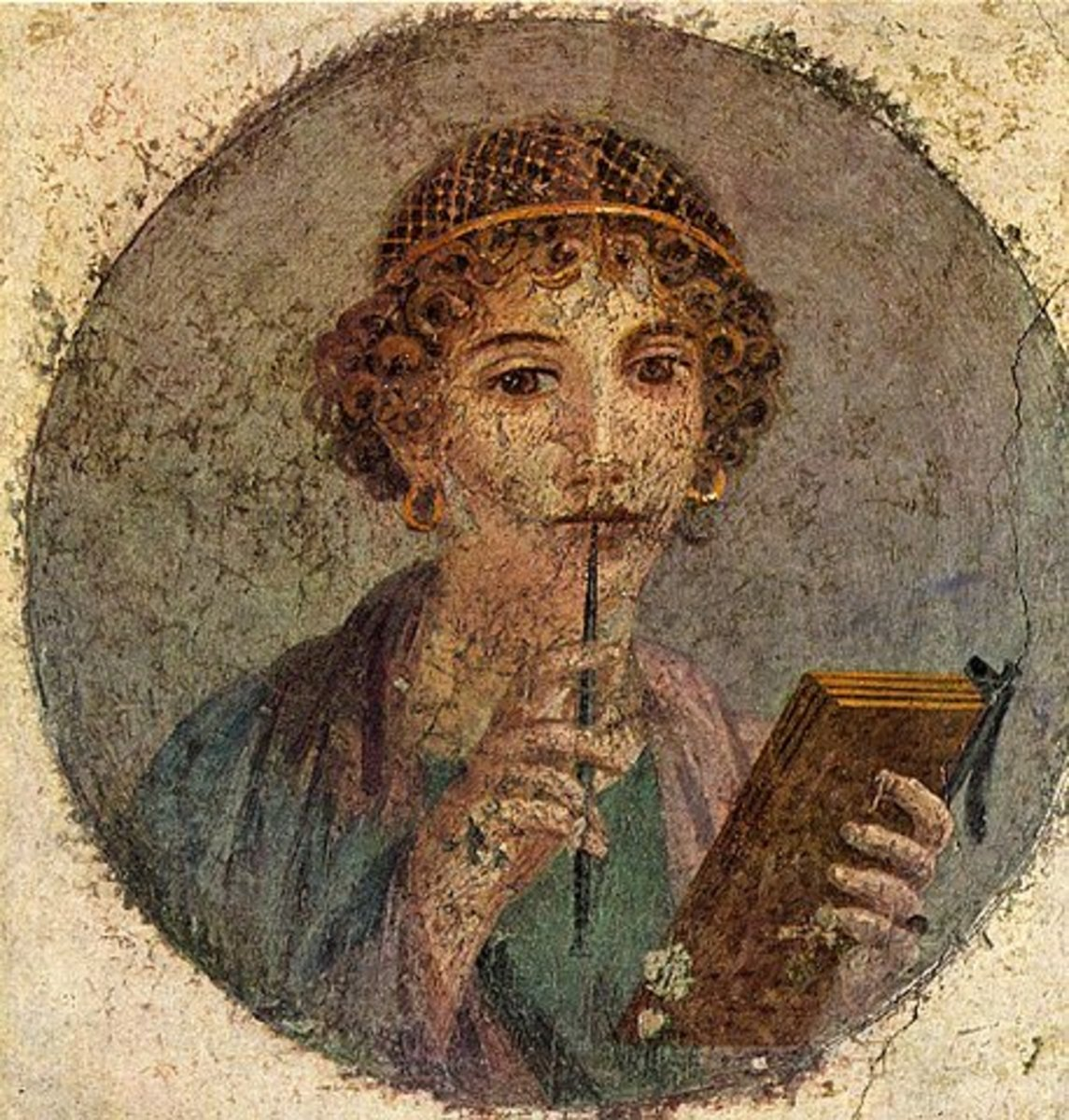 Fresco of Sappho.
