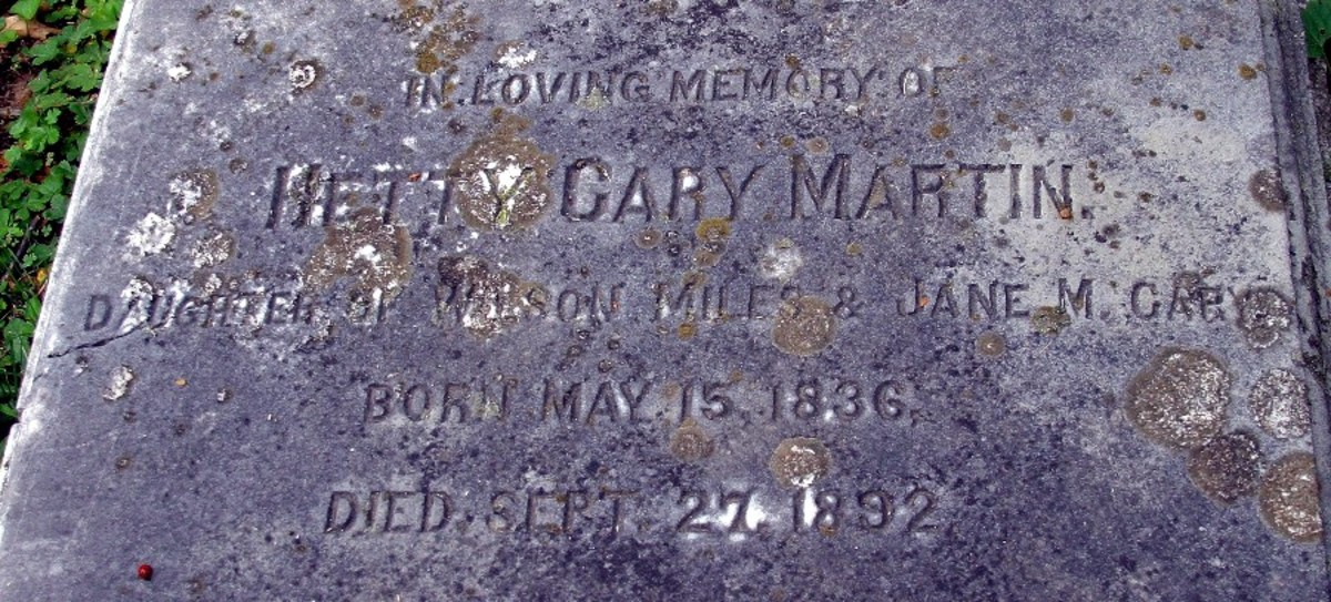 Hetty Cary Martin Died September 27th, 1882