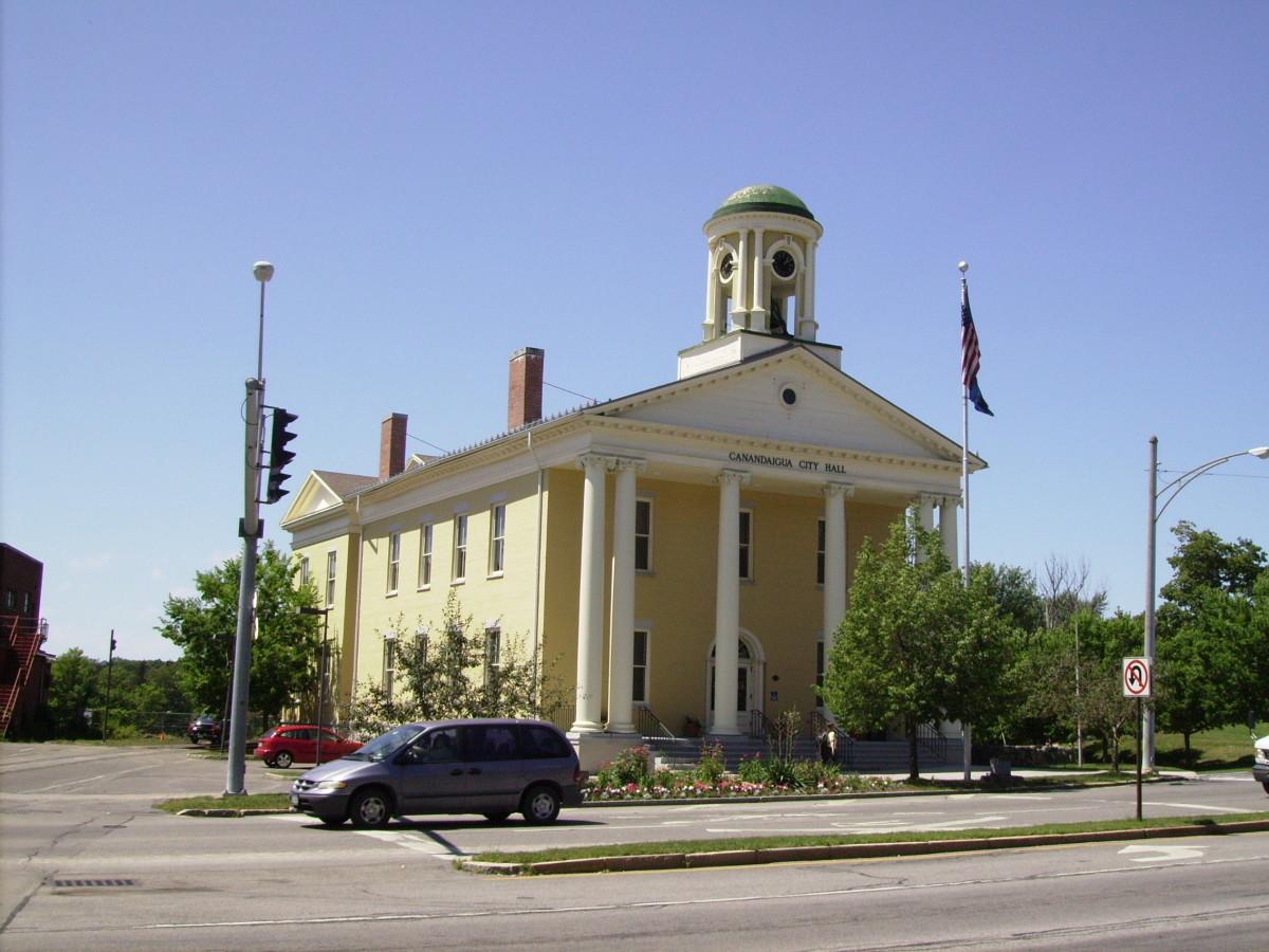 City Hall located at 2 N. Main Street in Canandaigua, NY