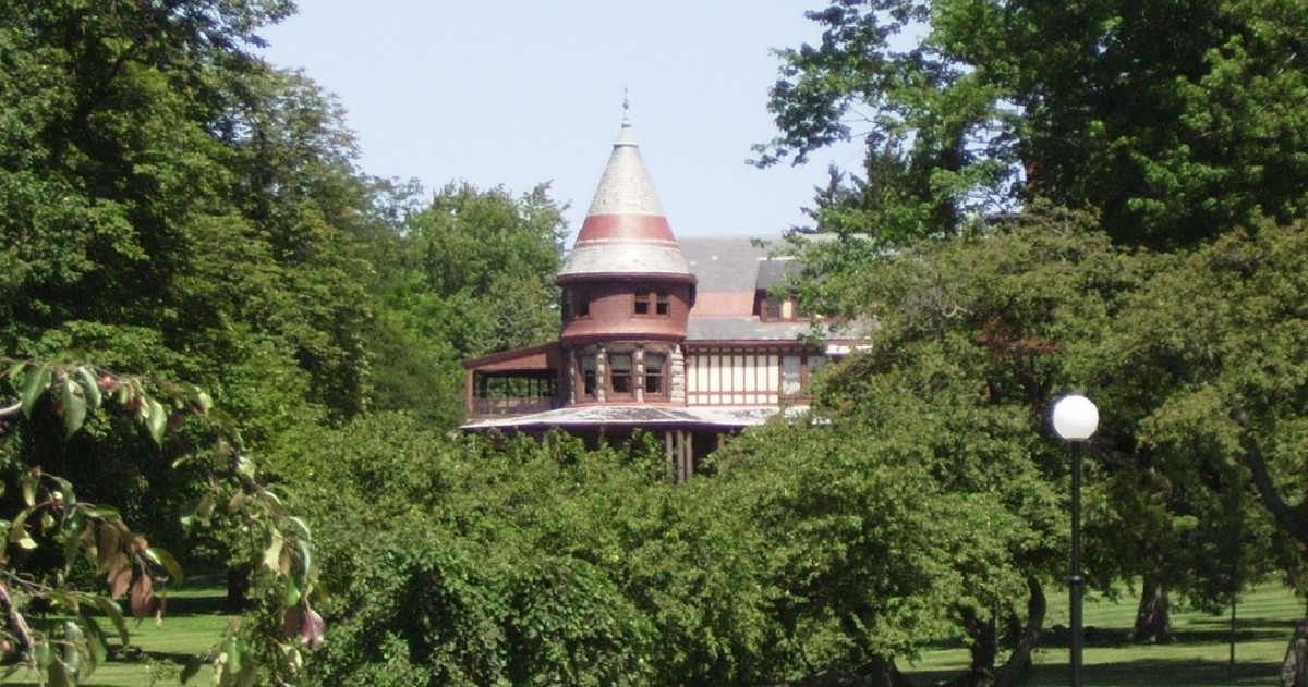 Historic Sonnenberg Mansion and Gardens in Canandaigua, NY.  Located a few blocks east of the Garlock House.
