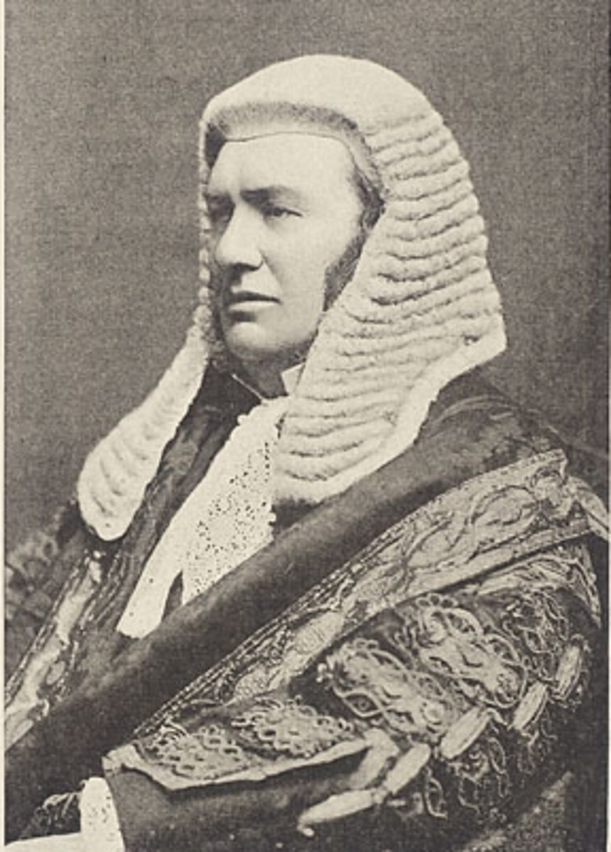 Lord Justice Lindley - a famous 19th Century Judge known for his many books on law.