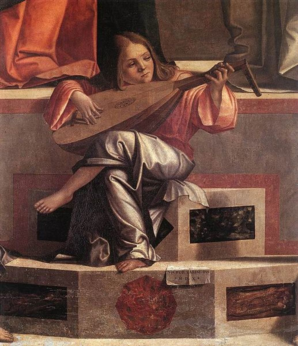"Angel with Lute:  Vittore Carpaccio's ""Presentation of Jesus in the Temple"" 1510"