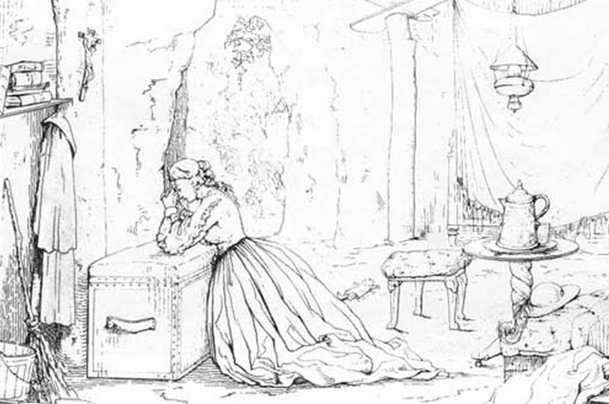 Cave life in Vicksburg as depicted in an 1863 etching