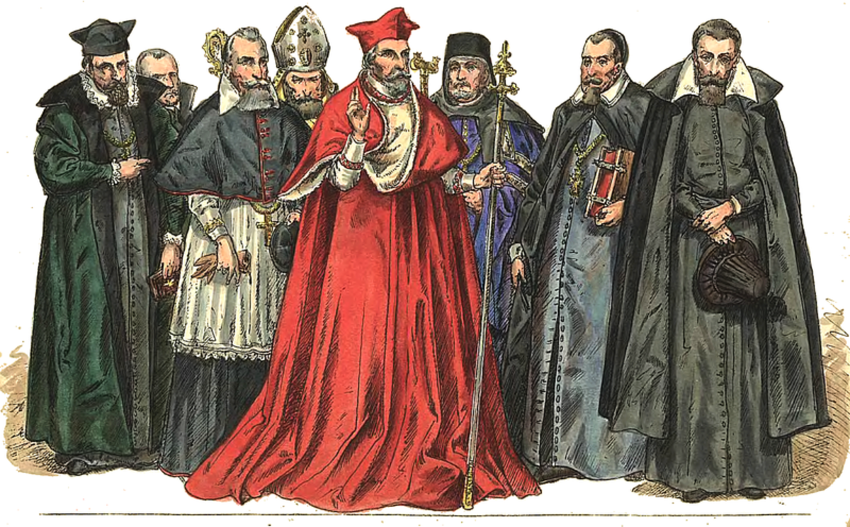 Clergy dress in both the Catholic and Orthodox tradition has always been very different from lay fashion.