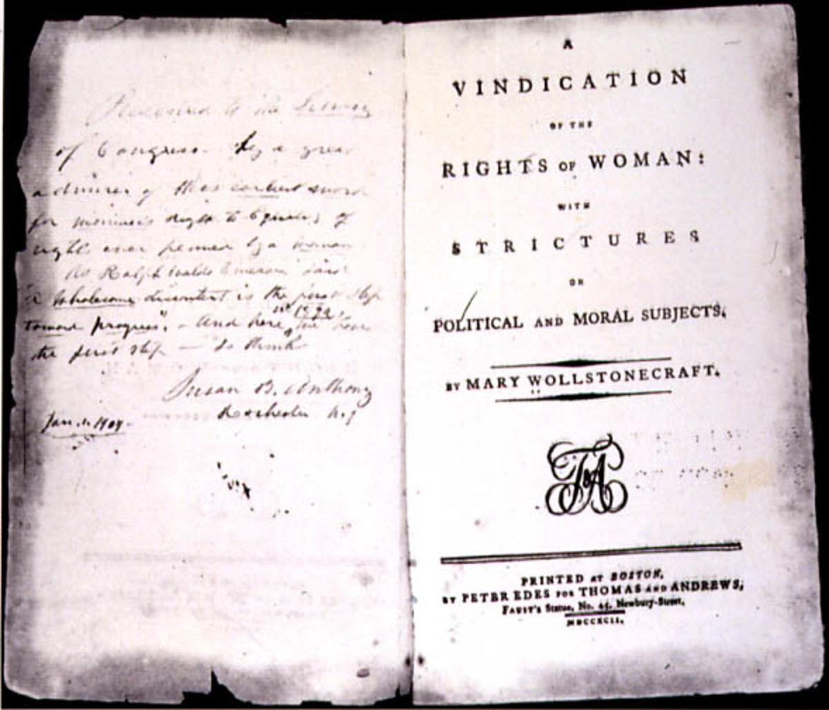 """Mary Wollstonecraft's """"A Vindication of the Rights of Woman"""""""