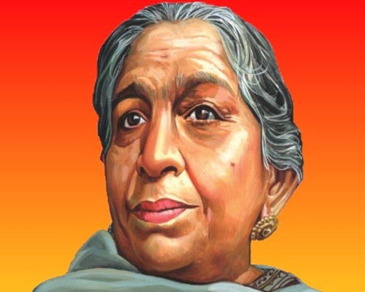 Sarojini Naidu, the Nightingale of India.