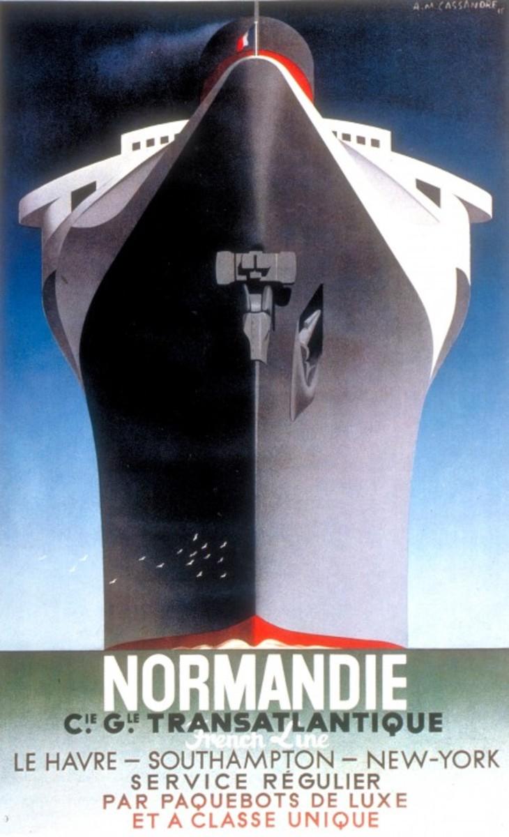Normandie poster- A M Cassandre-  1935