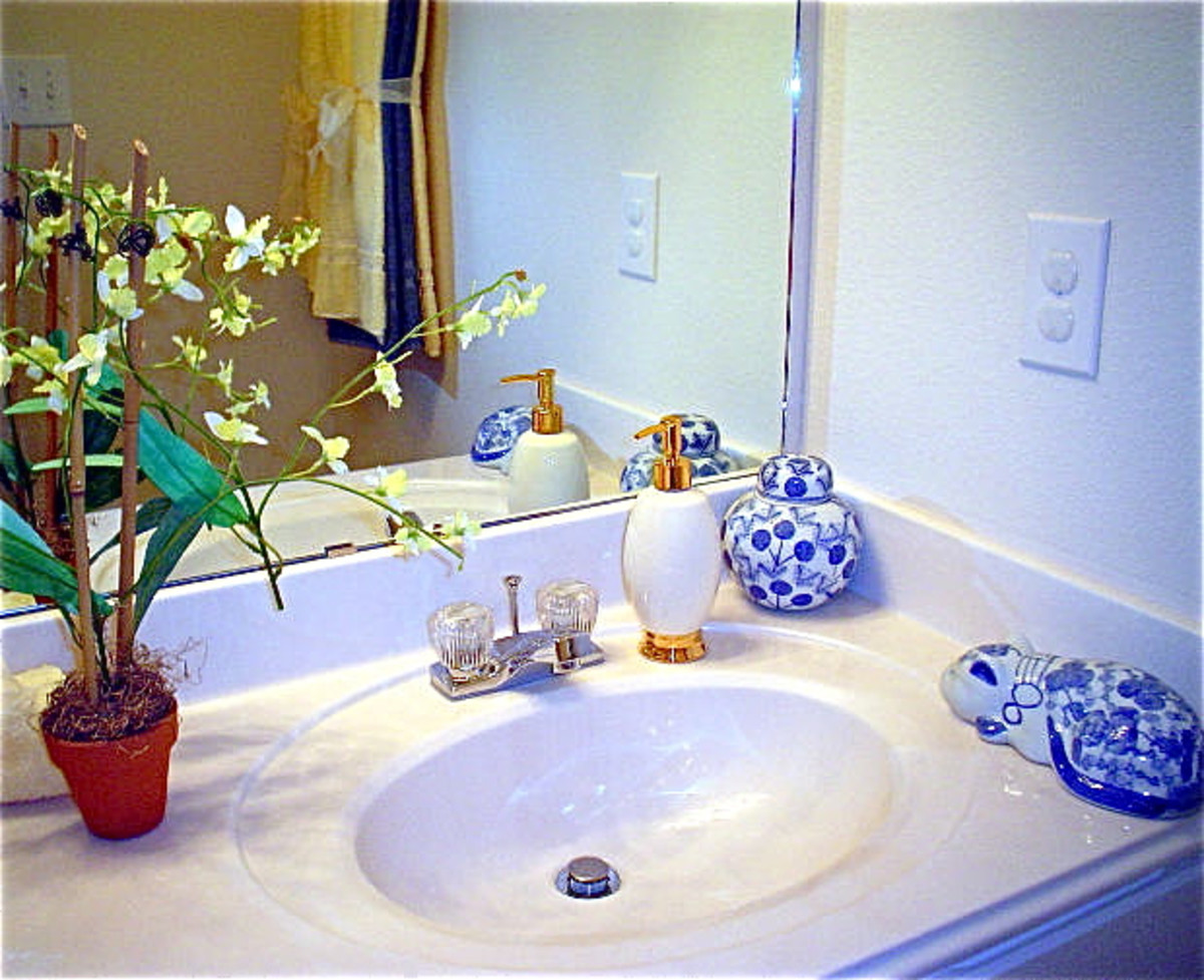 There are lots of uses for bleach in a bathroom.
