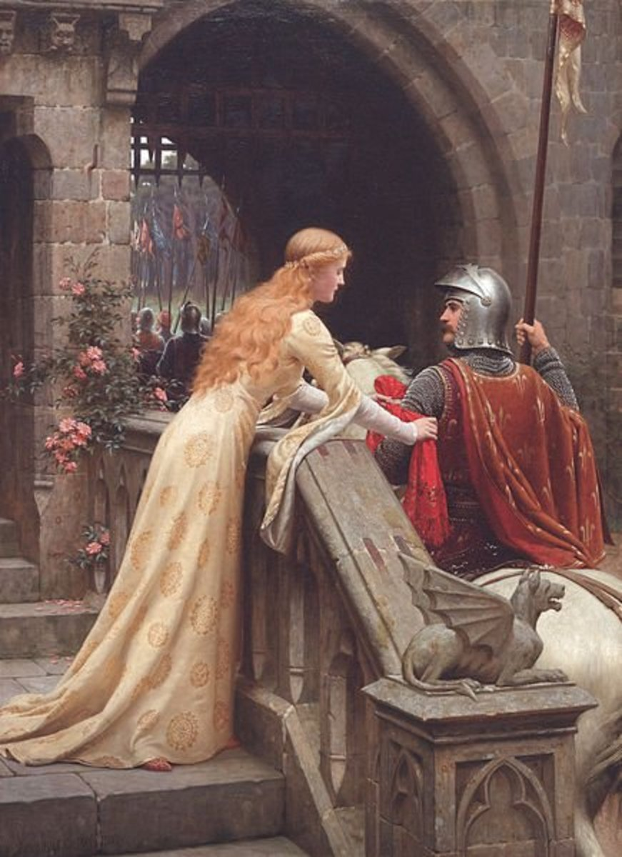 """God Speed"" by Edmund Leighton"