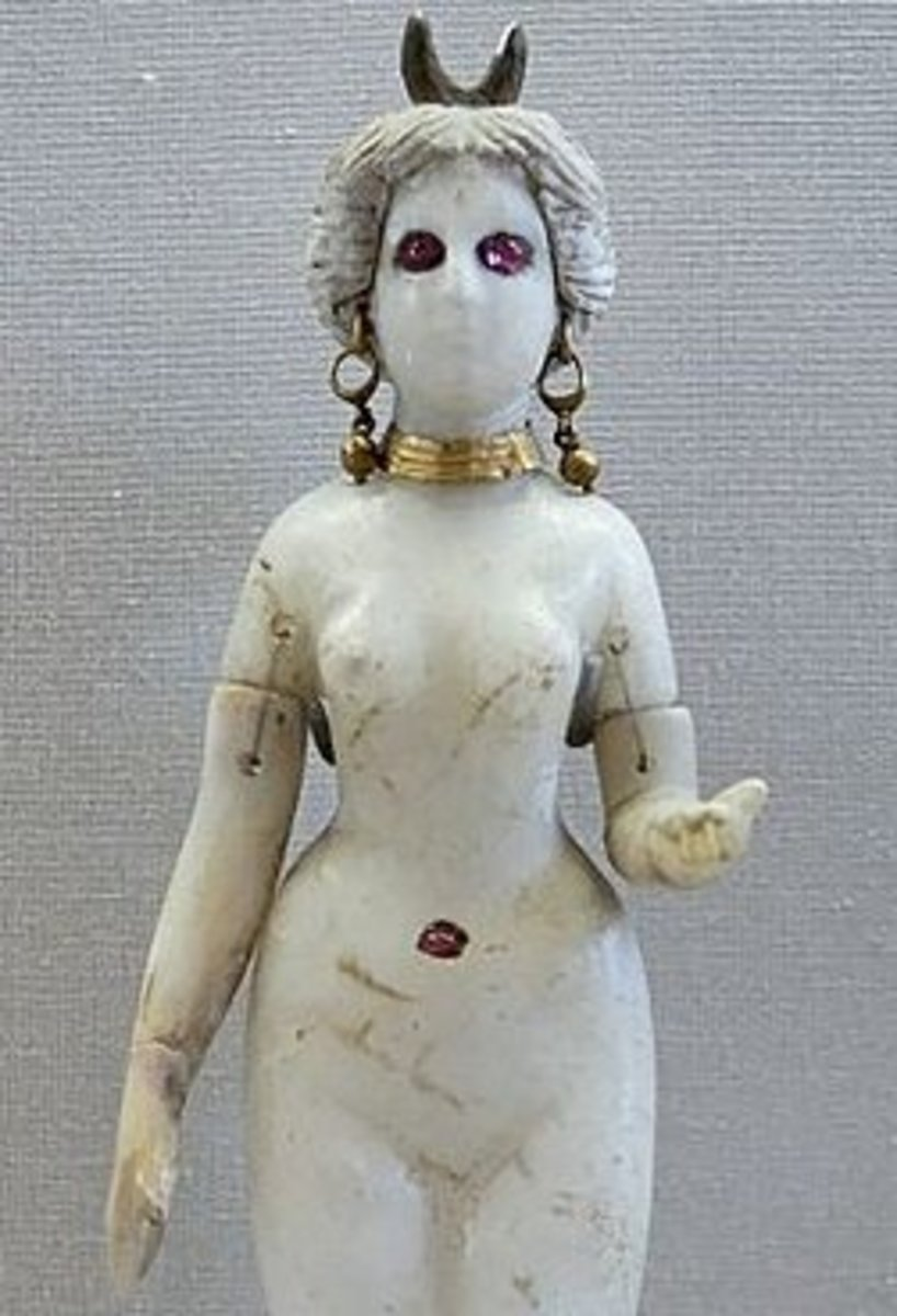 A figurine that is probably of Inanna.