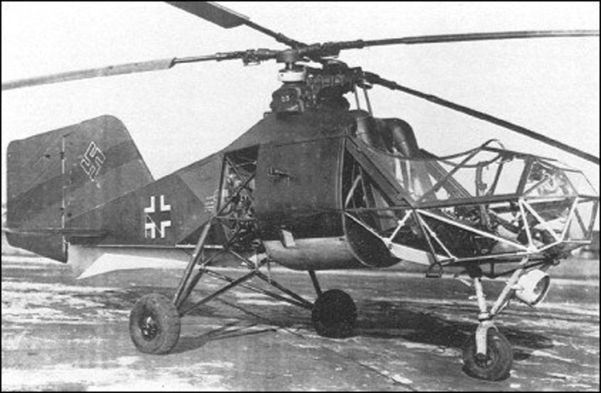 Fl 282 Kolibri, a 2 seater helicopter during WW2.