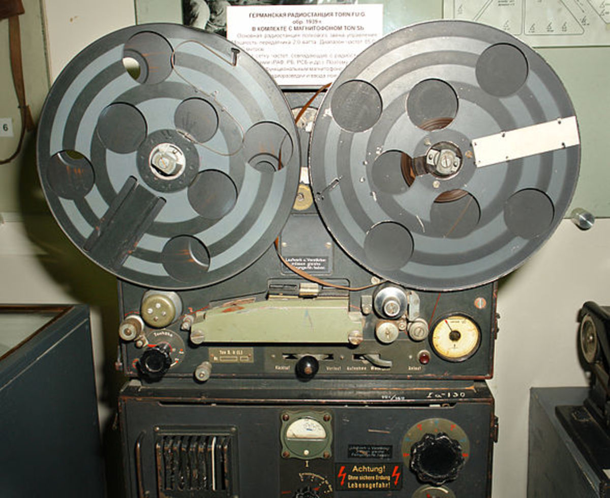 Magnetophon K1, by AEG, captured from a European radio station by allied forces in WW2.