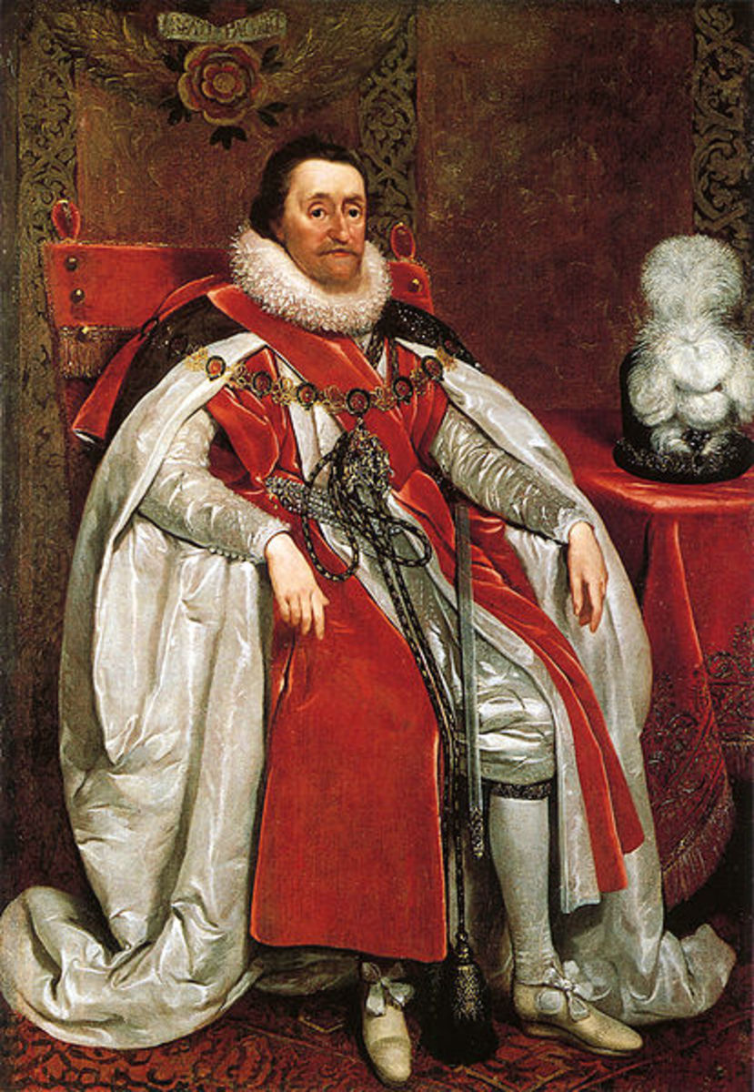 King James I painted by Daniel Mytens 1621