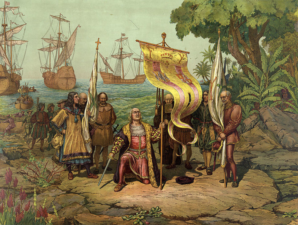 """Christopher Columbus Arrives in America"" from the United States Library of Congress"