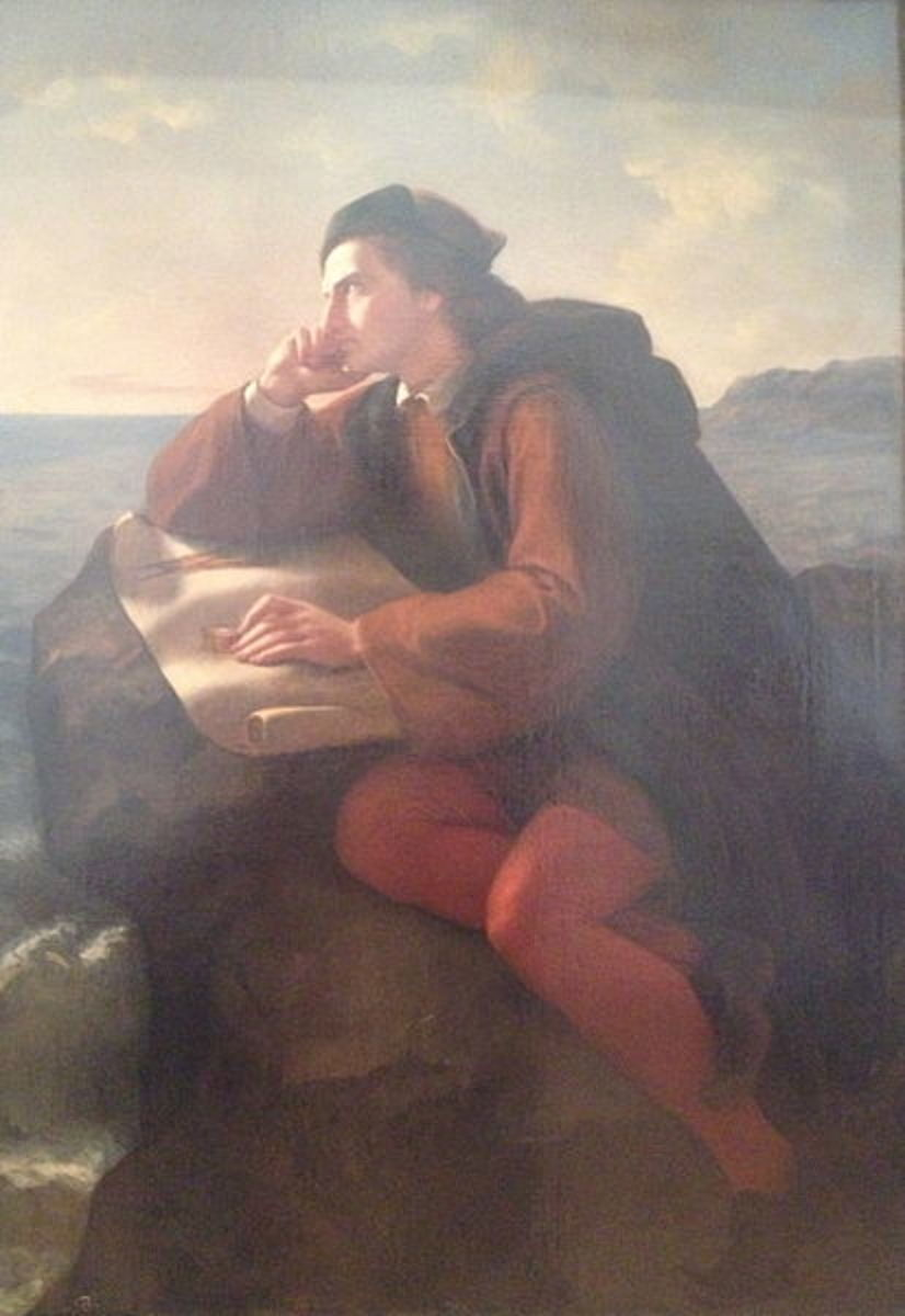 "Jose Maria Obrego's painting ""Inspiration of Christopher Columbus"""