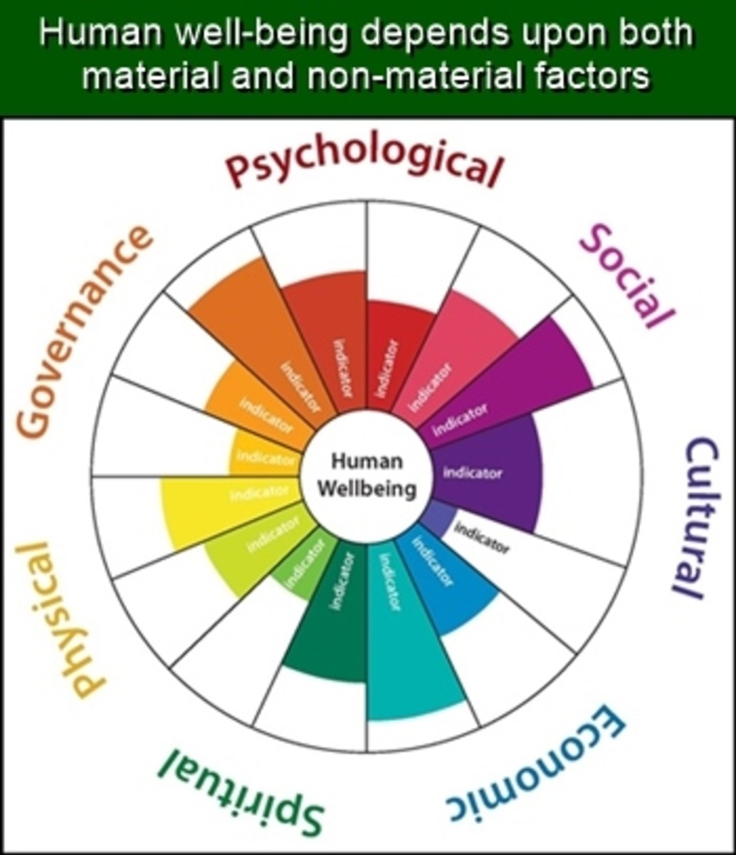 Human well-being is multidimensional.