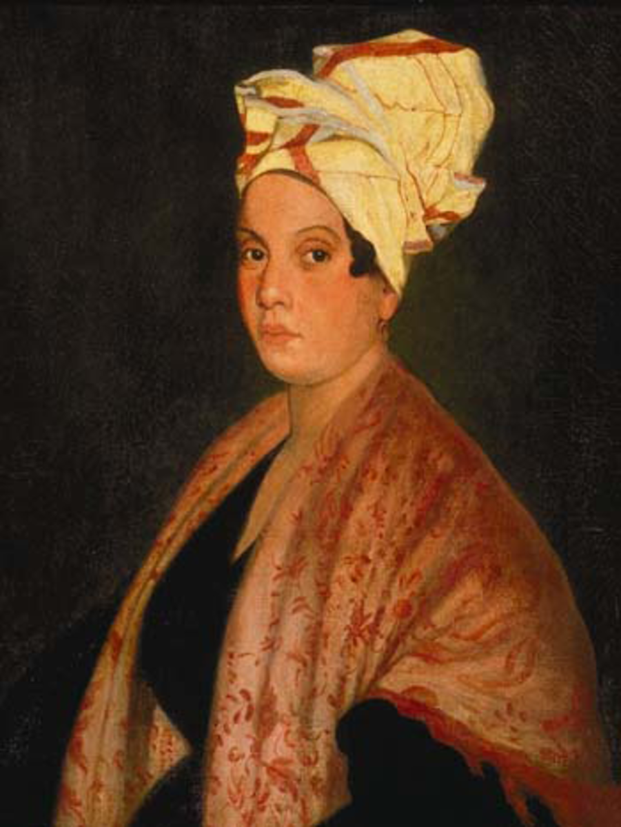 This painting is said to be of Marie Laveau, but those who knew her said it looked nothing like her.