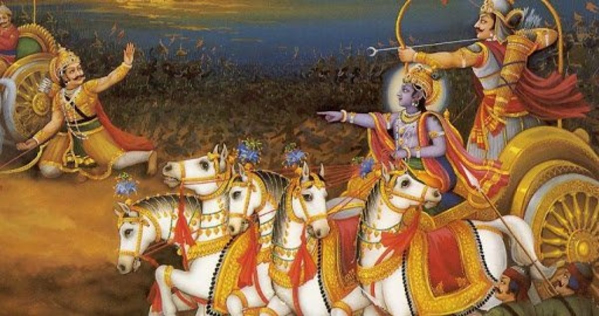 The epic is said to be written by Vyasa, an ancient Indian sage.