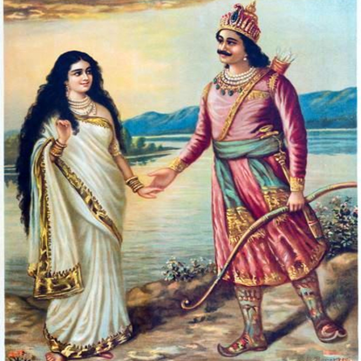 Santanu married the goddess Ganga.