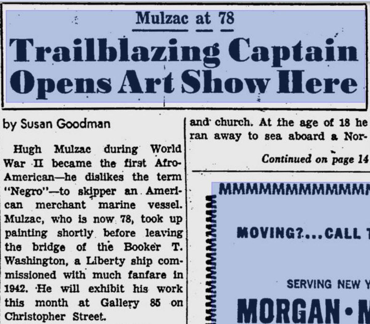 Captain Mulzac Opens Art Show