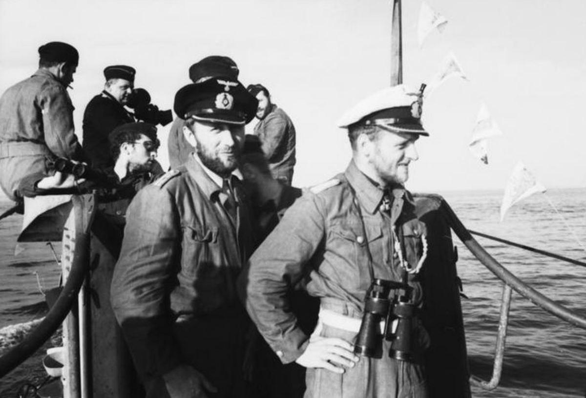U-Boat captain and crew, 1941