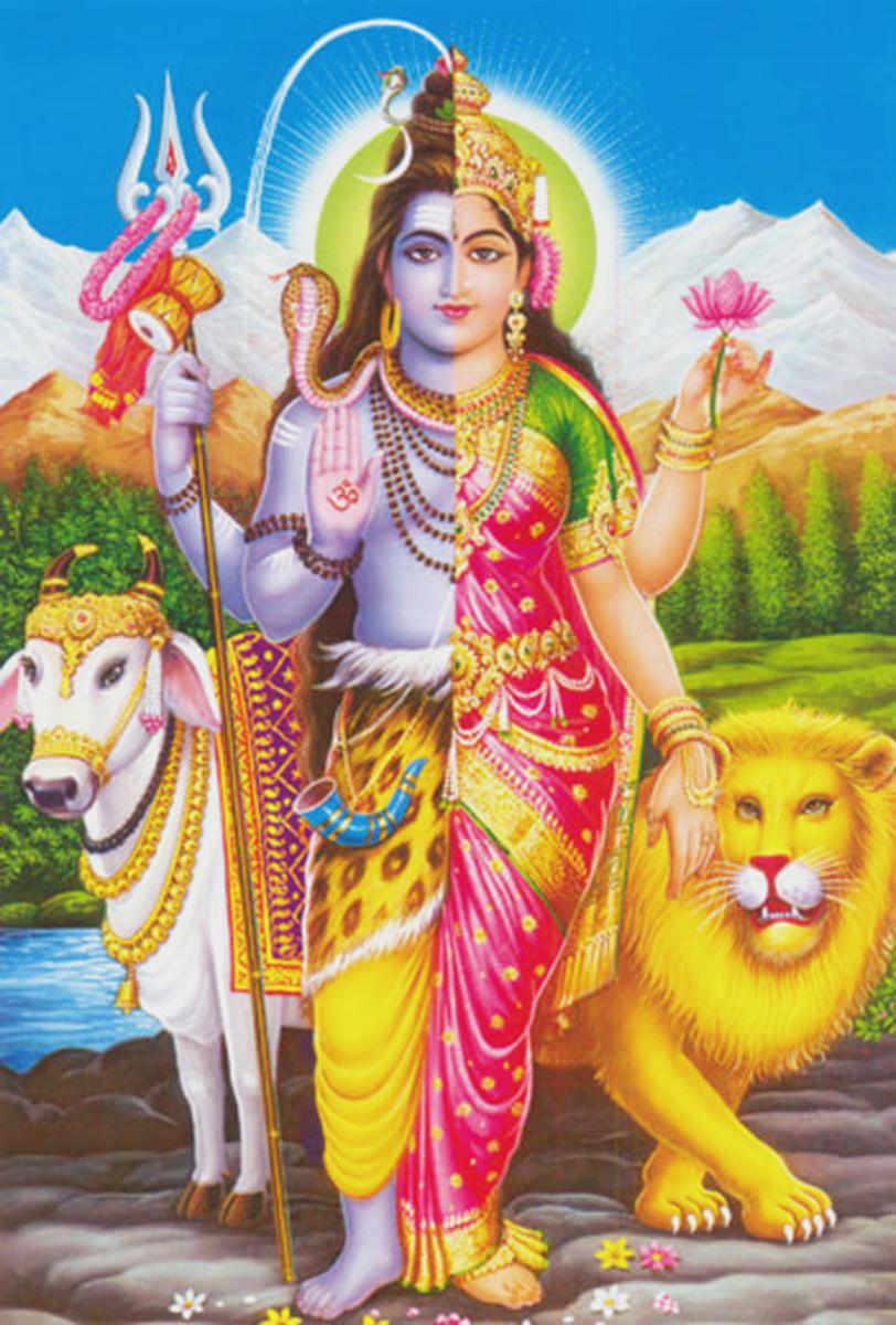 Ardhanarishwar, Shiva and Parvati in Unison; Contemporary depiction photographed by Vinaya