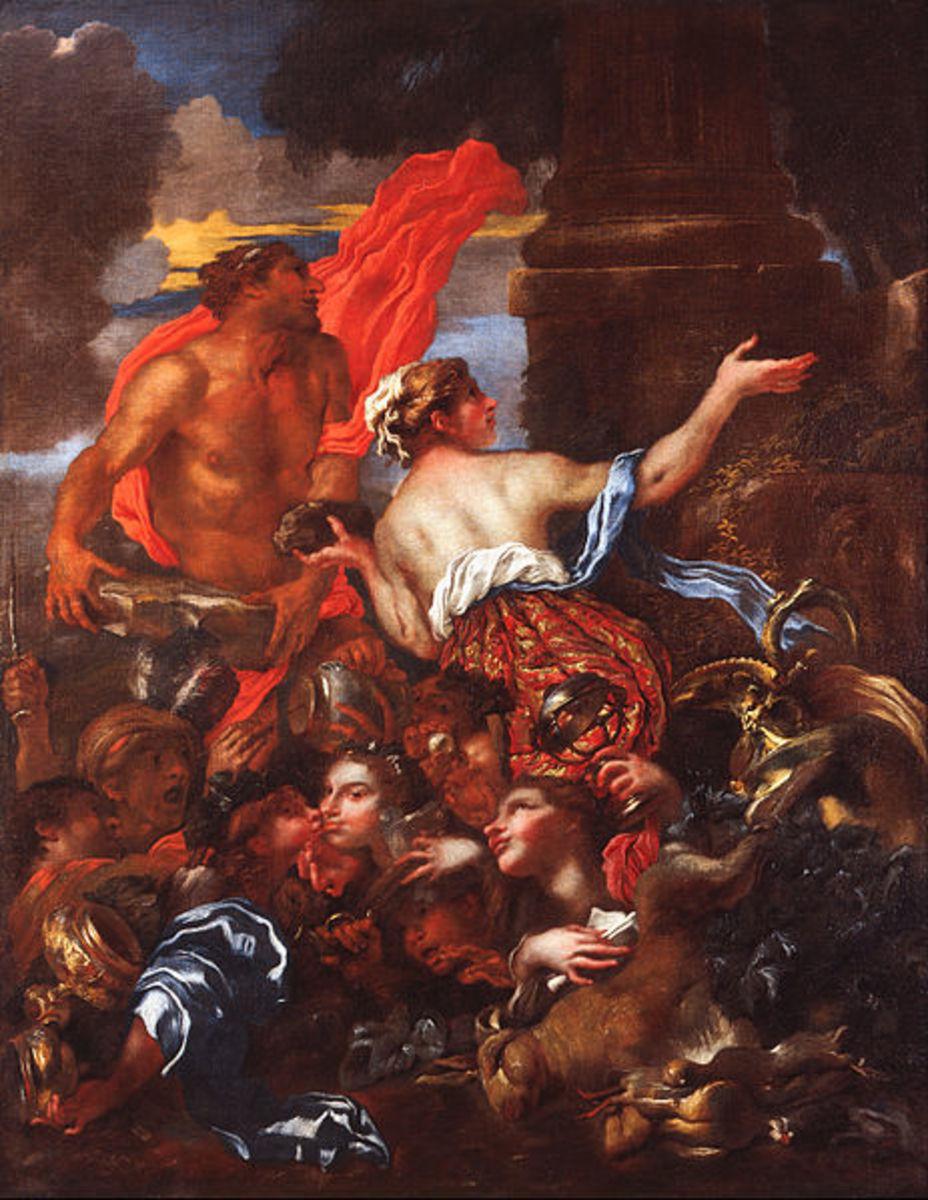 Deucalion and Pyrrha, Giovanni Castiglione, 1655