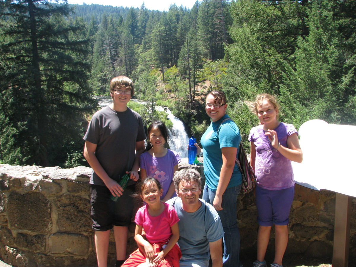 Family Vacation photo.  Spending time in nature is a wonderful sibling bonding experience.