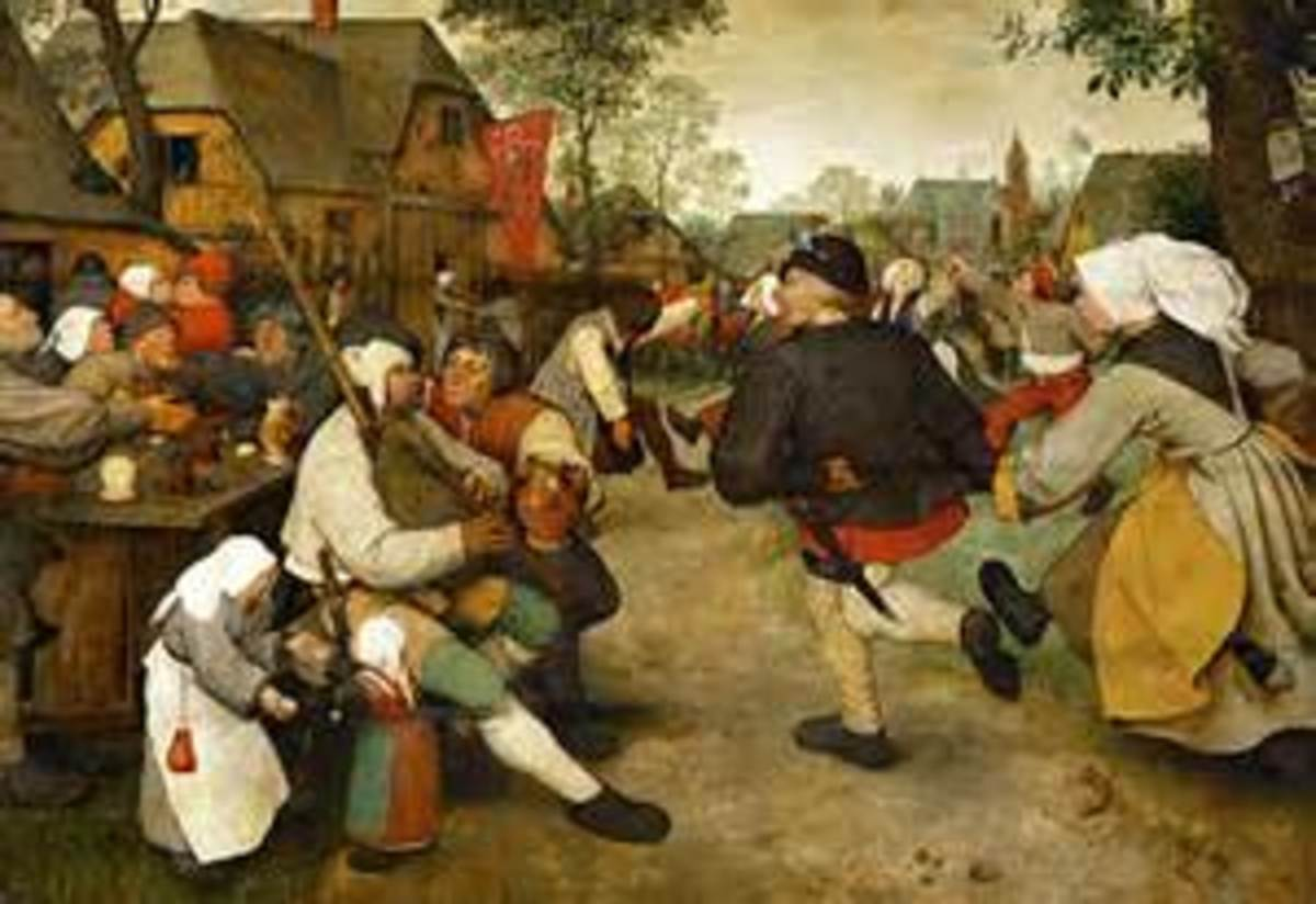 Depiction of 1500's France, 'Peasant's Dance'.