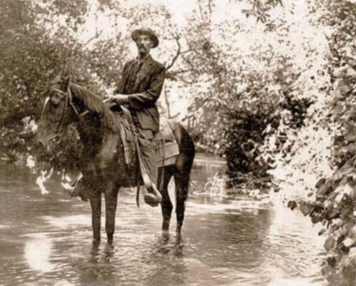 In the early days of the river, before the massive floods that scared people into channeling it, horseback riding was one of its enjoyments.