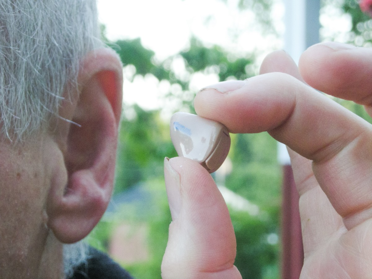 A hearing aid can prevent earwax from leaving the ear and cause it to collect inside the ear canal or the hearing aid.