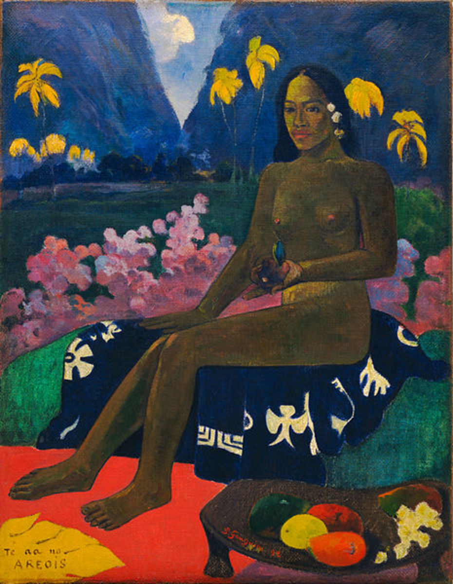 """The Seed of the Areoi"" (1892) by Paul Gauguin.  The Museum of Modern Art, New York City"