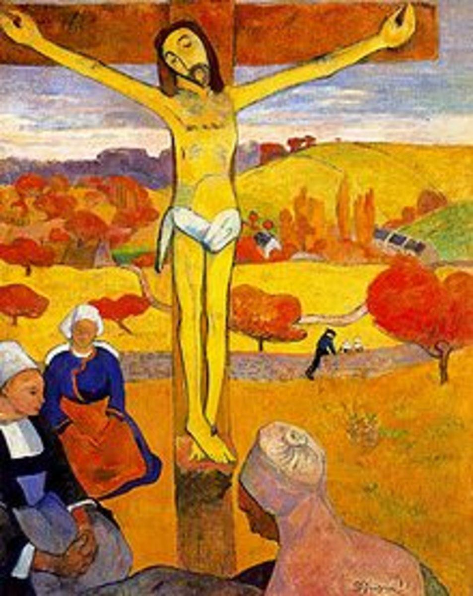 """""""The Yellow Christ"""" (1889)  Albright-Knox Art Gallery, Buffalo, NY."""