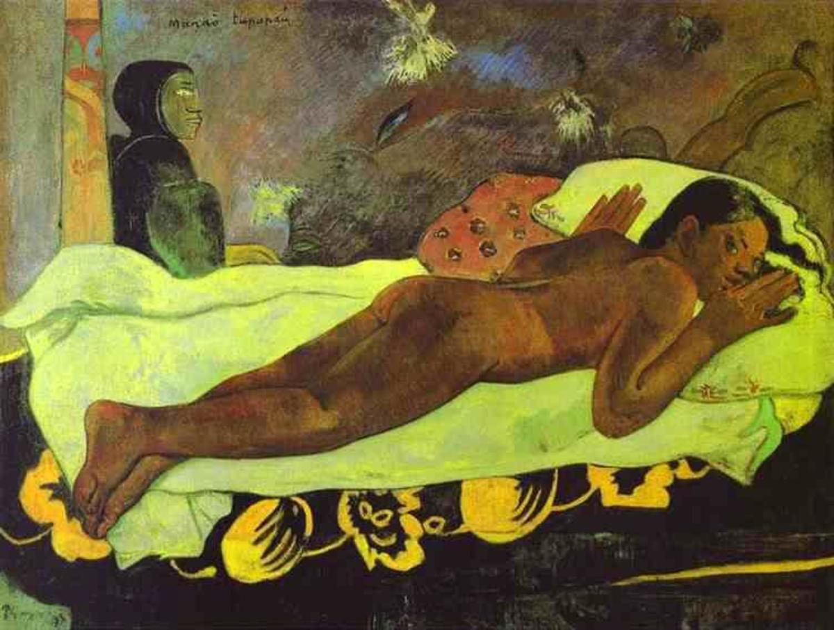 """Spirit of the Dead"" (1892) by Paul Gauguin"