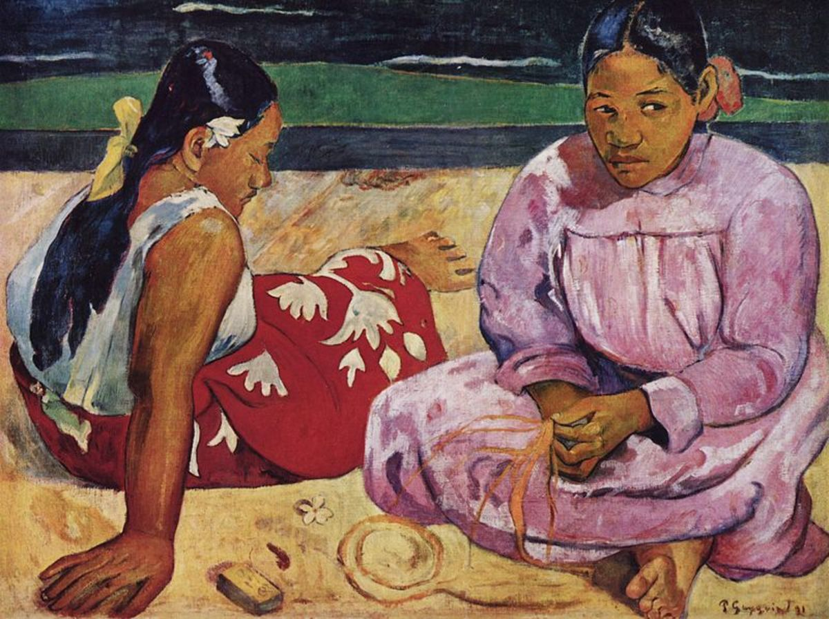 """Tahitian Women on the Beach"" 1891 by Paul Gauguin"