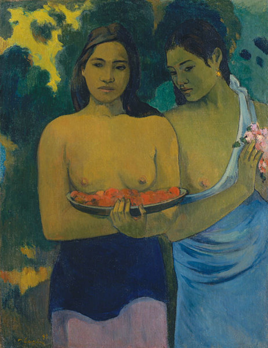 """Two Tahitian Women"" (1899) by Paul Gauguin"