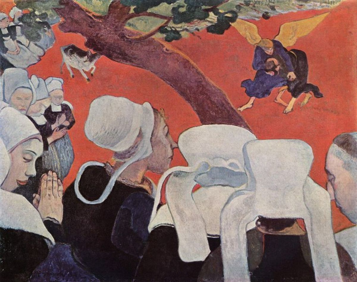 """The Vision After the Sermon"" (1888) by Paul Gauguin."
