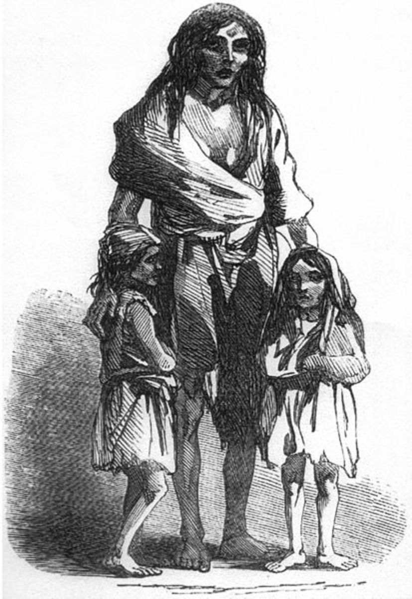 Ireland's dependency on the potato from the 17th century onwards, meant that sooner or later a famine would strike. In contrast, the wide and varied diet enjoyed by hunter gatherers meant that famines were unlikely.