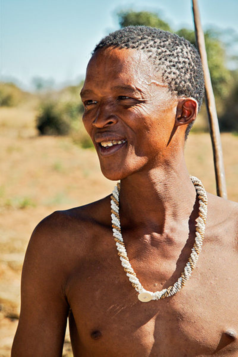This San tribesman only works on average 19 hours a week in order to obtain enough food to survive.