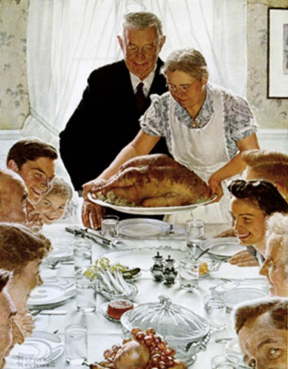 Norman Rockwell's take on Thanksgiving.
