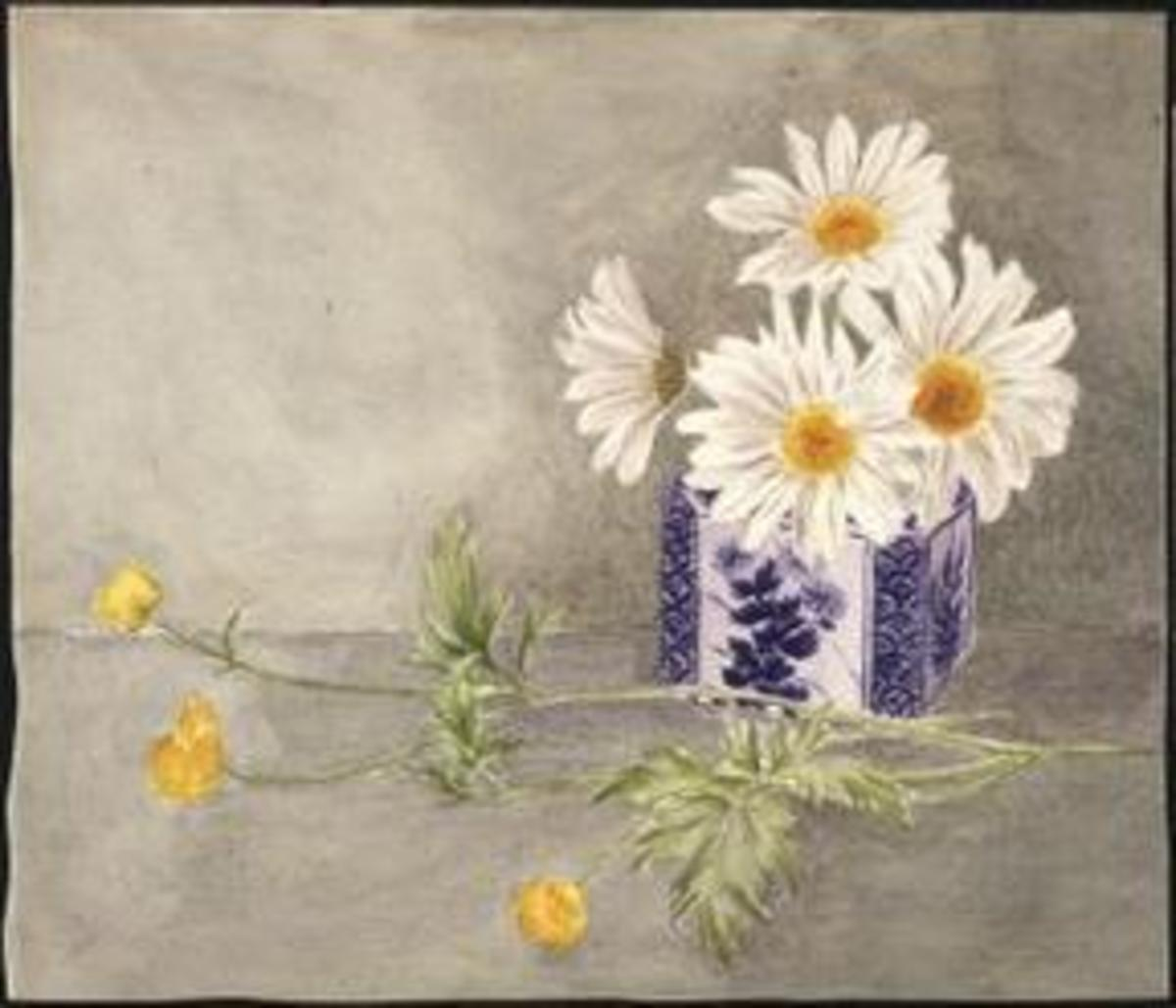 Flower watercolor done by Potter when she was about 15 years old.