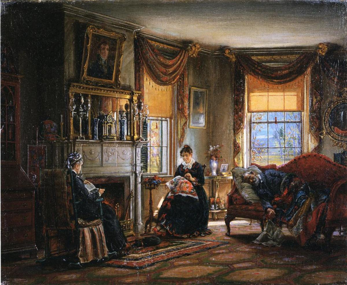 The sitting room is where family members congregated.