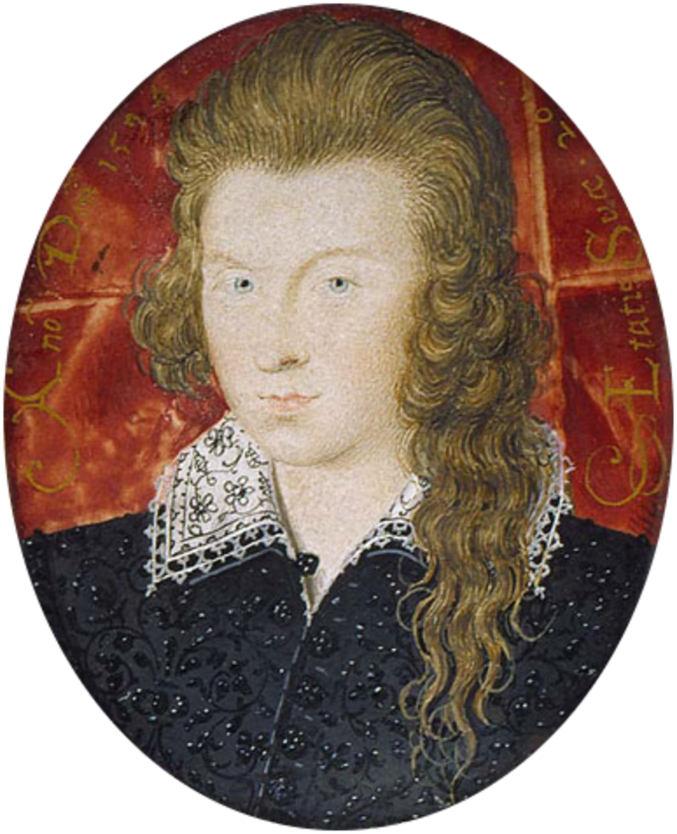 Miniature painting of Henry Wriothesley, at 21 years of age.