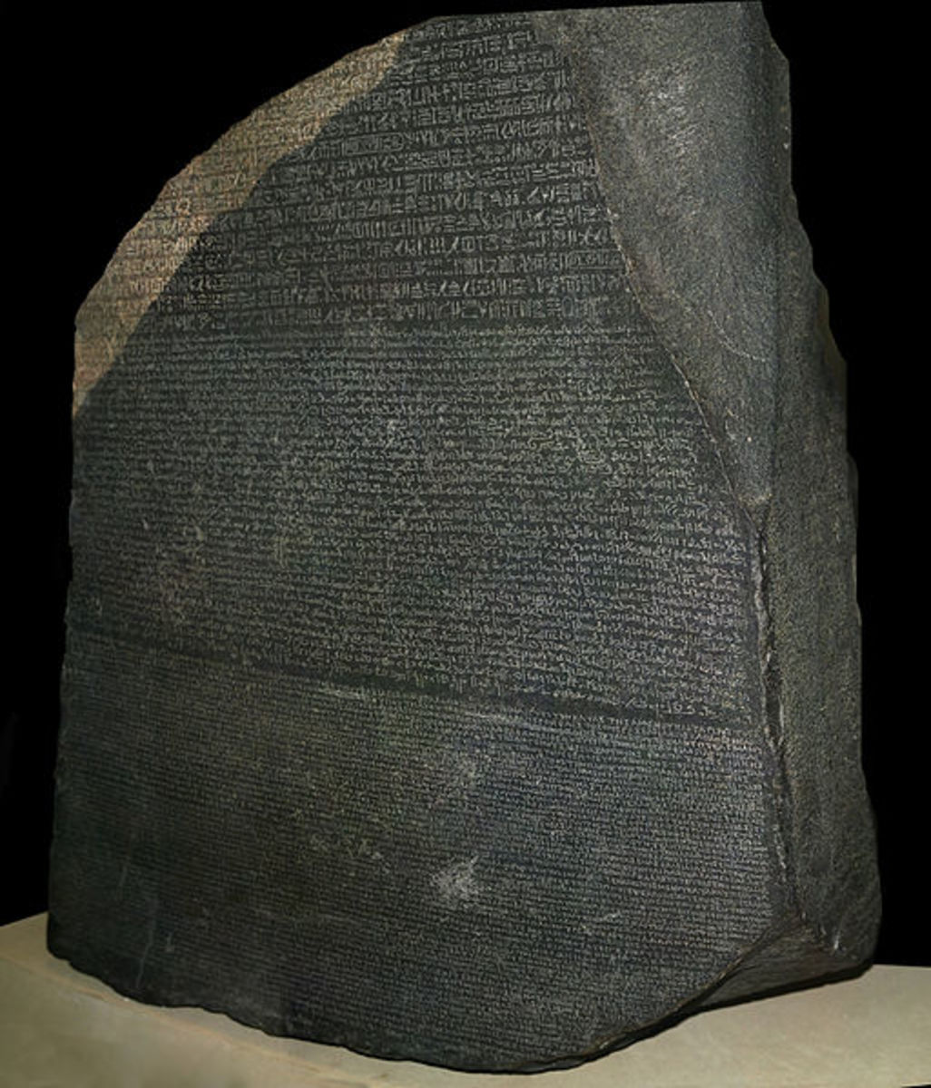 The famous stone that unravelled the mystery of the Egyptian written language.