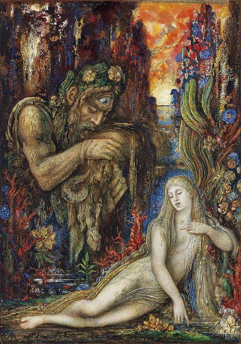 Polyphemus and Galatea by Gustave Moreau