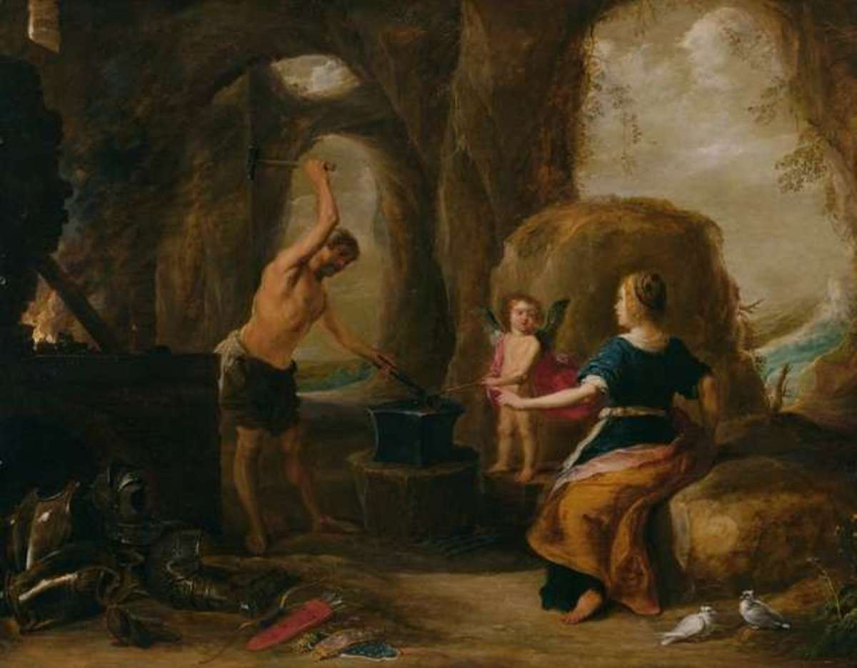 Venus visiting Vulcano by David Teniers the Elder