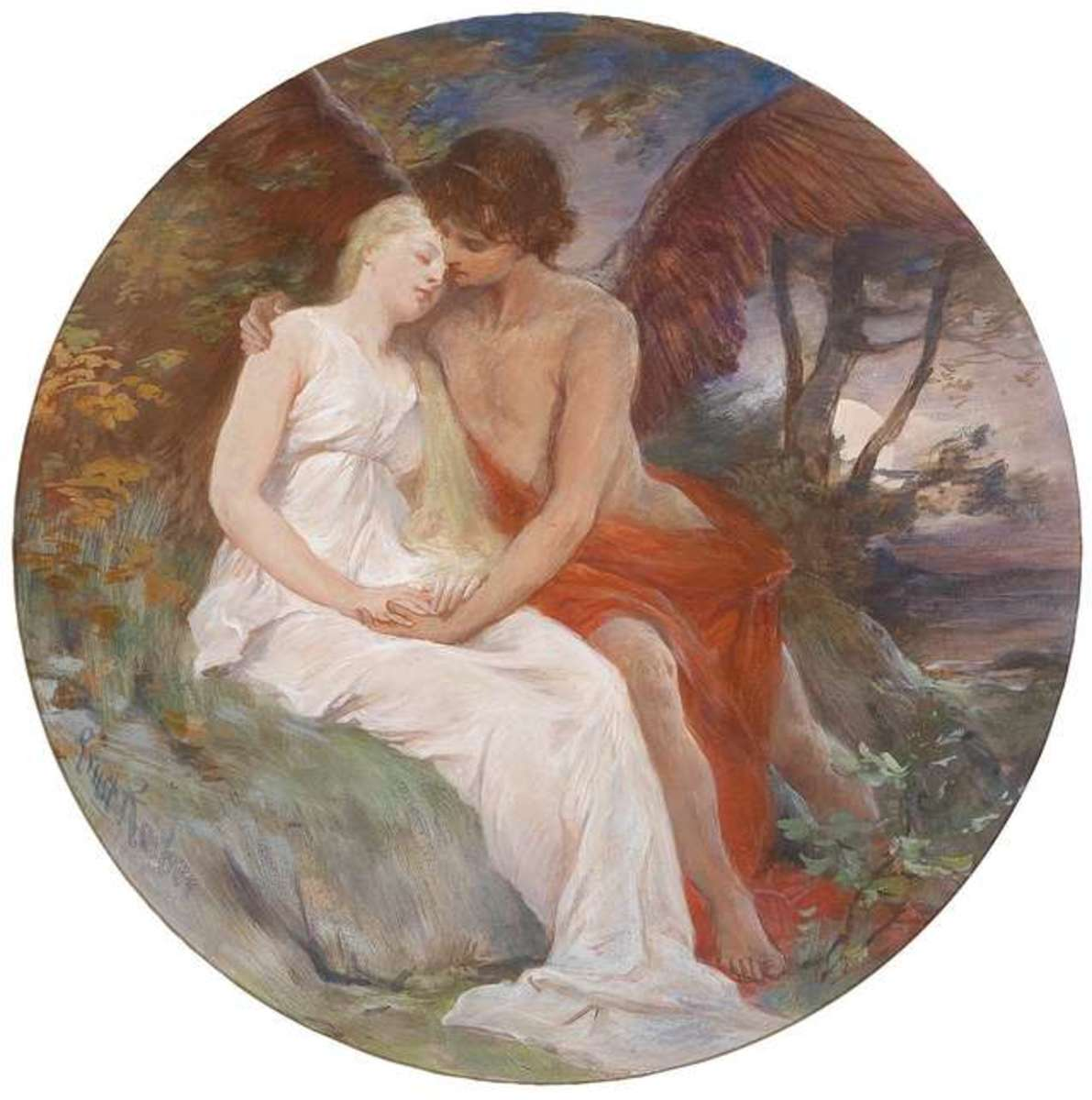 Amor and Psyche by Ernst Roeber