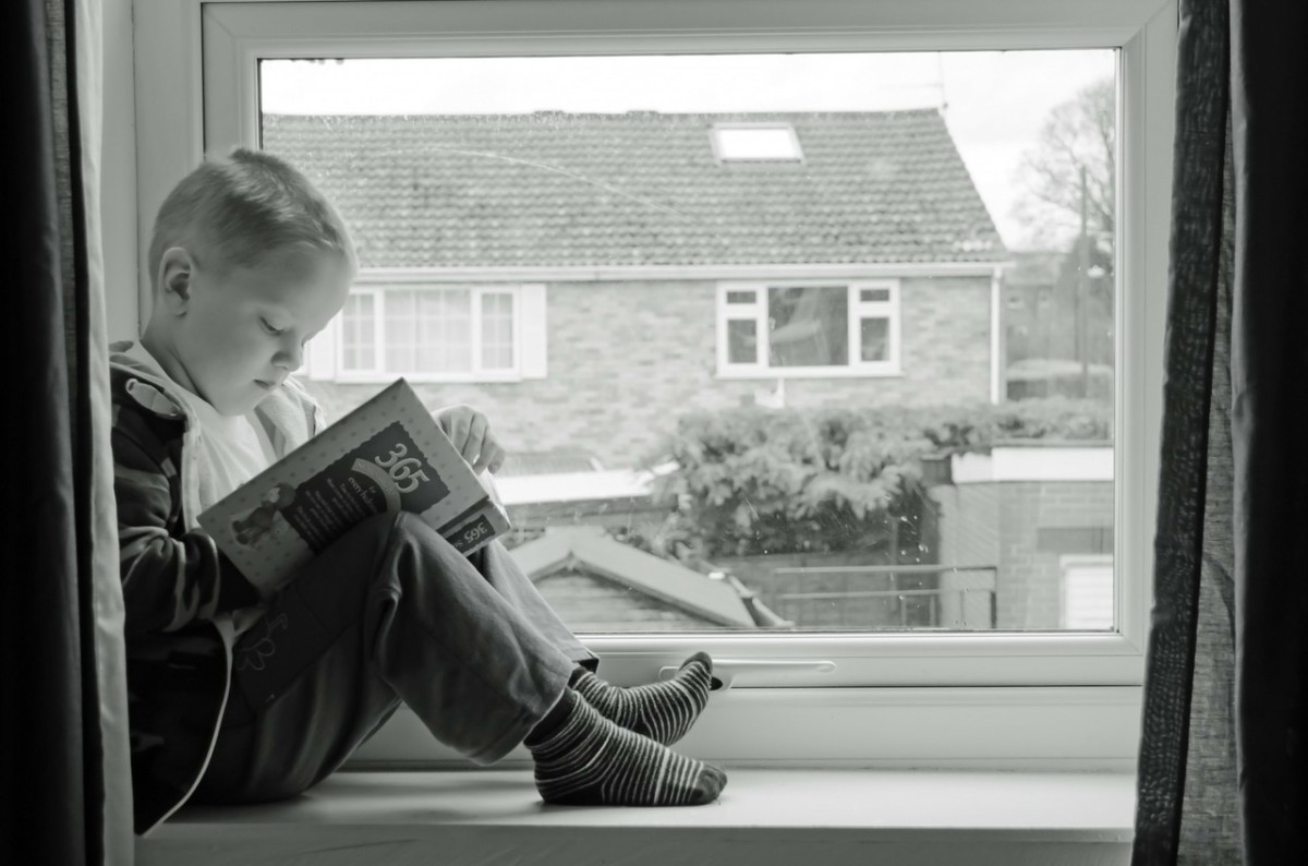 Child Reading: Reader Response is the thoughts in your head as you read.