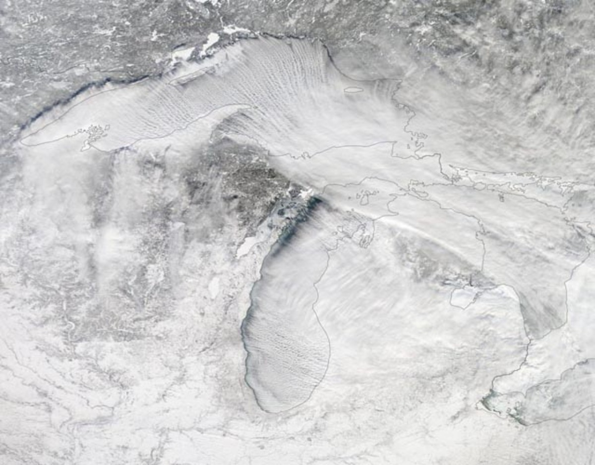 Historic POLAR VORTEX of 2014 over Great Lakes region