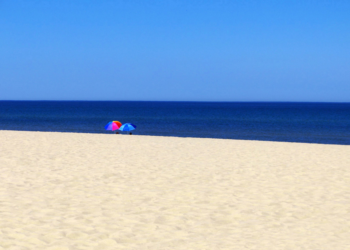 Chill'n at Oval Beach in Saugatuck, Michigan